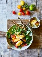 Tomato and roasted feta salad