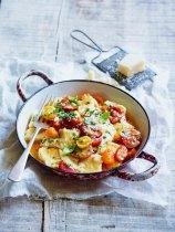 Gnocchi with cherry tomatoes and mozzarella copy