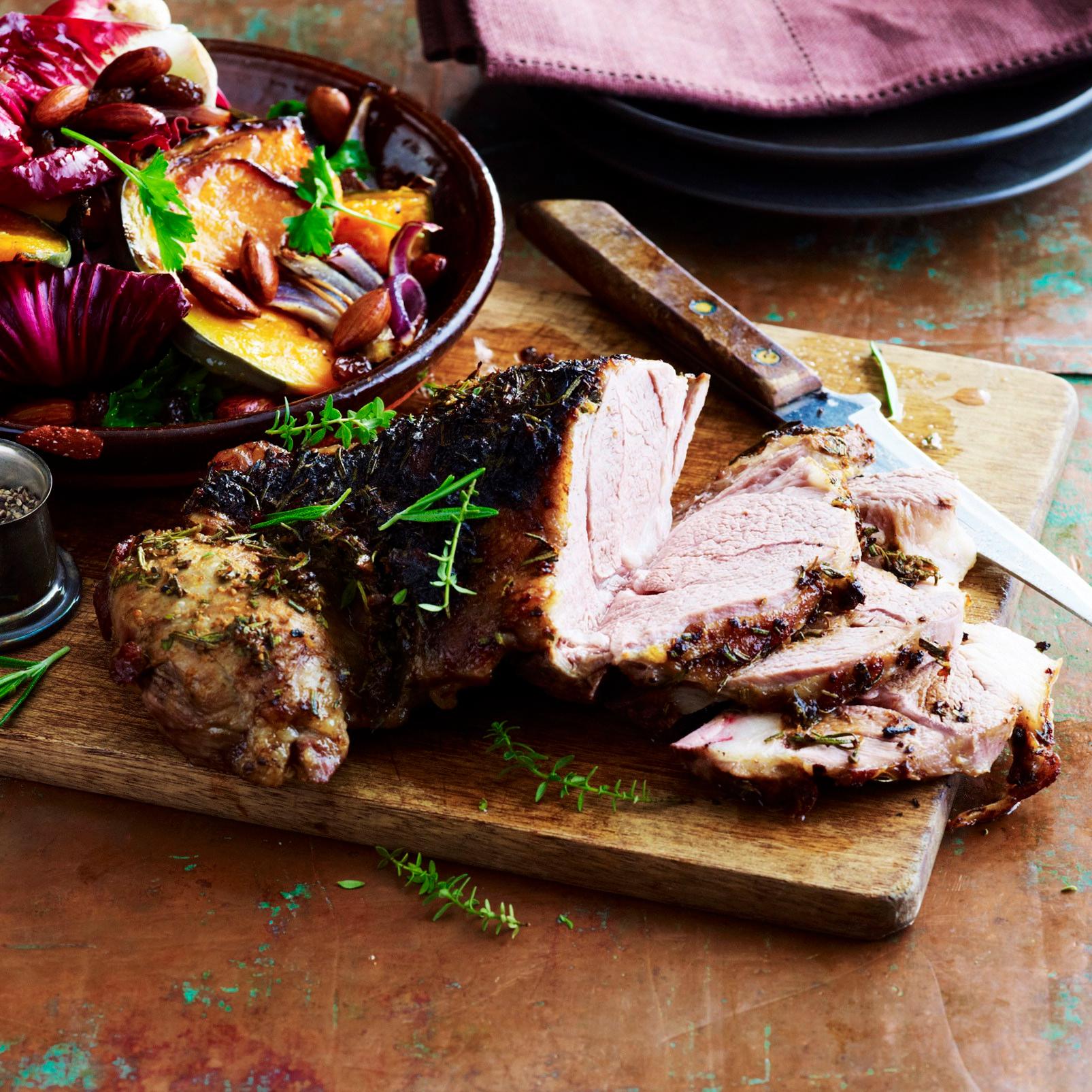 Roast Lamb and Pumpkin Salad